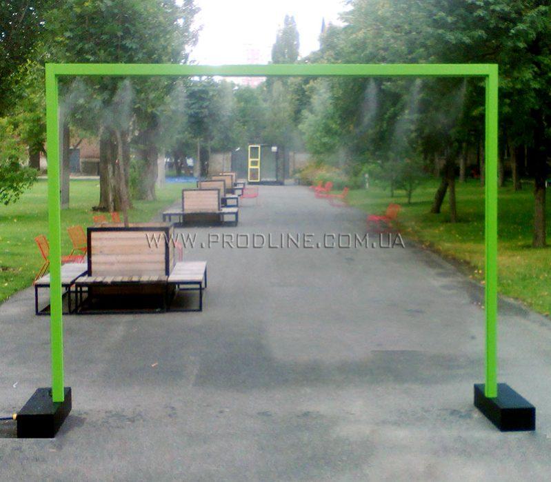 Освежающая арка фонтан с водой для пешеходов