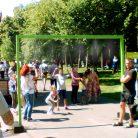 Освежающая арка фонтан с водой для пешеходов-3