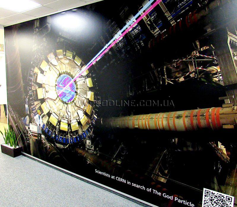 Баннер интерьерный в офис c УФ печатью