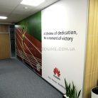 Баннер интерьерный в офис c УФ печатью-4