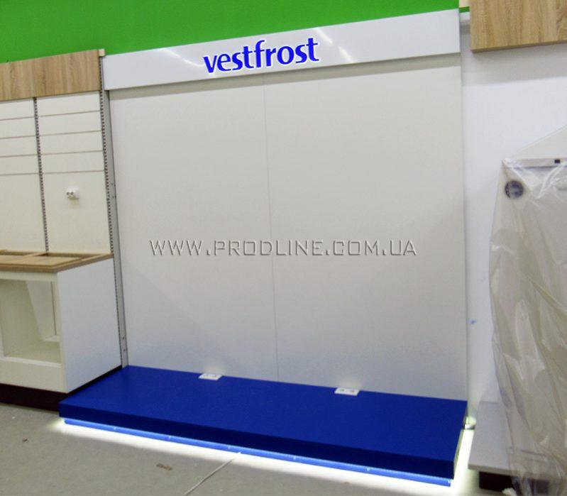 Бренд-зона, стенд для холодильного оборудования Vestfrost