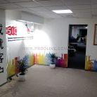 Брендирование стен в офисе акриловыми панелями-1