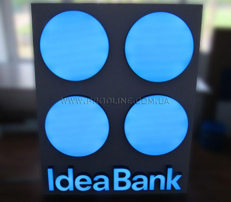 Внутренняя квадратная вывеска Idea Bank