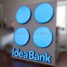 Внутренняя квадратная вывеска Idea Bank-2