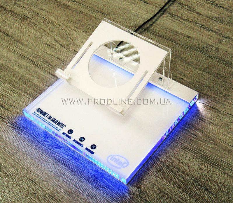 POS подставка для планшета с подсветкой
