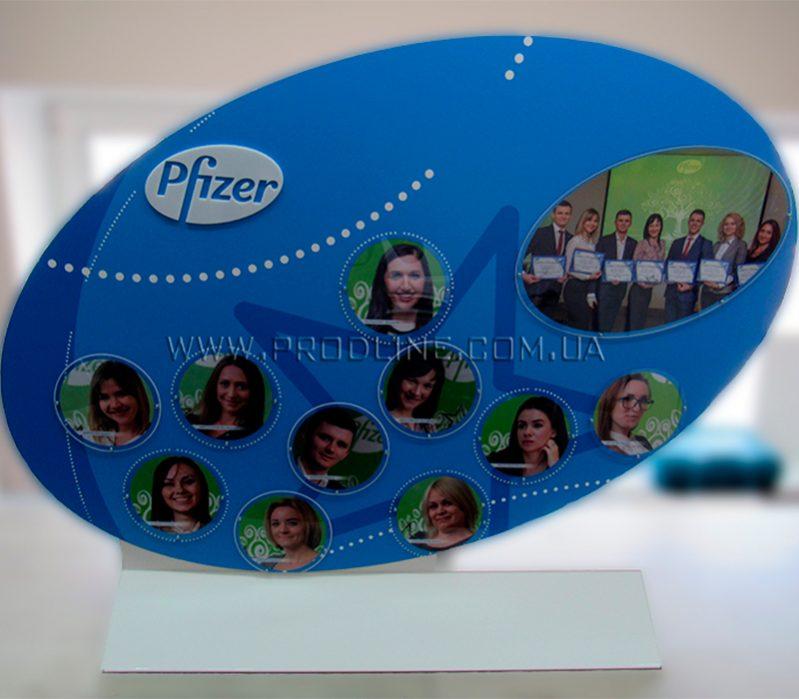Стенд почета с победителями Pfizer