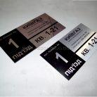 Адресные таблички из метала Киевгаз-1